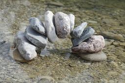 balanced stone bridge